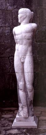 Manuel Rosa, 1986 SÃO SEBASTIÃO Escultura em Pedra 210 x 50 x 40 cm