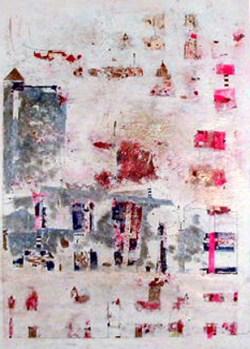 """Ana Maria, 1992 """"S/ título"""" Pintura 105 x 75 cm Menção Honrosa - Aquisição na VII Bienal Internacional de Arte de Cerveira, realizada de 15 de agosto a 21 de setembro de 1992"""