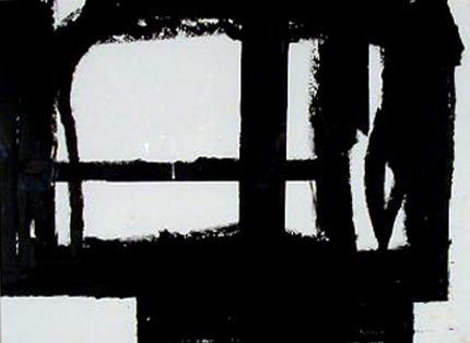 Robert Schad 1992 INSTALAÇÃO NUMA SALA DE ESCOLA Desenho 43 x 34 cm