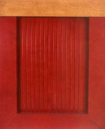 Gerardo Burmester 1995 MARIA VII Couro e Madeira 150 x 120 x 10 cm