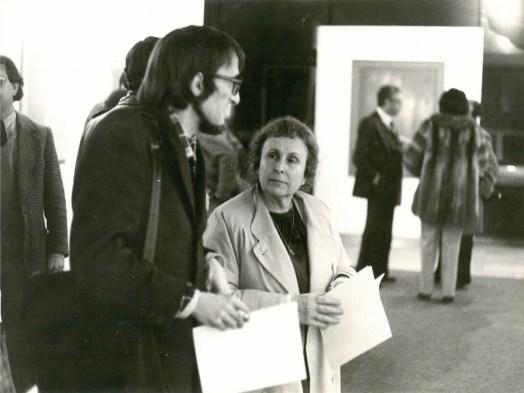 Agustina Bessa-Luís e Joaquim Matos Chaves na II Bienal, em 1980.
