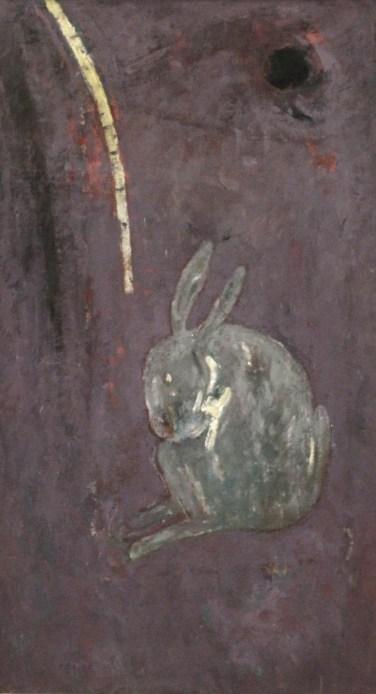 António Dacosta (PT) Sem título, 1986 Acrílica sobre tela 125 x 73 cm Prémio Aquisição Pintura na V Bienal Internacional de Arte de Cerveira, realizada de 26 de julho a 7 de setembro de 1986.