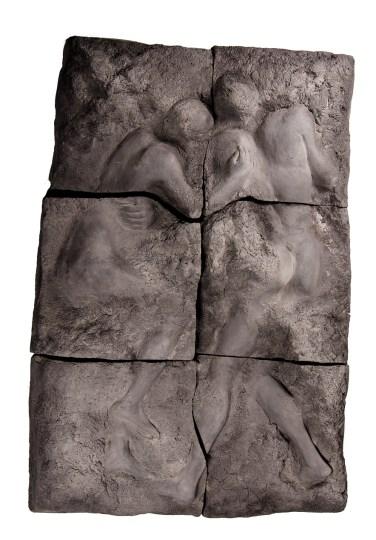 Clara Menéres (PT) Os amantes, ou restos arqueológicos de uma viagem para a morte, 1983 Escultura em terracota 180 x 120 x 40 cm Grande Prémio Escultura (Ex-Aequo) na IV Bienal Internacional de Arte de Cerveira, realizada de 4 de agosto a 2 de setembro de 1984.
