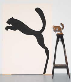 Juan Gil Segovia (ES) The Shadow, 2007 Pintura-objeto 185 x 170 x 65 cm Obra apresentada na XV Bienal Internacional de Arte de Cerveira, realizada de 25 de julho a 27 de setembro de 2009.