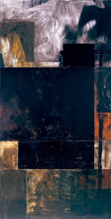 Cabrita Reis (PT) Da ordem ao caos IX, 1986 Técnica mista sobre tela 197 x 100 cm Prémio Aquisição Pintura na V Bienal Internacional de Arte de Cerveira, realizada de 26 de julho a 7 de setembro de 1986.