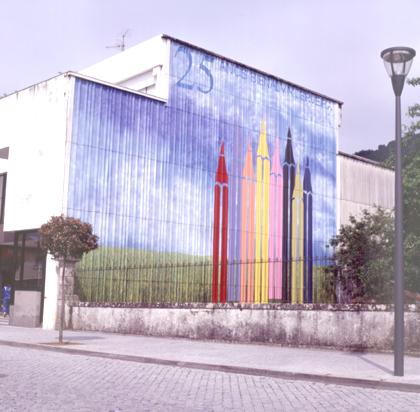 Mural comemorativo dos 25 anos da Bienal, 2003 Acácio Carvalho 2000 x 1500 cm