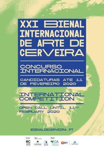 Cartaz do Concurso Internacional XX Bienal Internacional de Arte de Cerveira, 2020