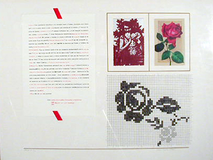 Alberto José 1980 IMAGEM / SUGESTÃO A ROSA Serigrafia 50 x 75 cm