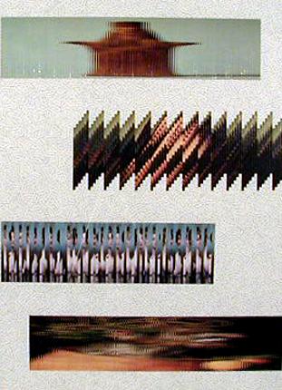 Jiri Kolár 1982 CHANSON À TROIS VOIX DE FILLE ET L'AUTOMNE S'EN VA Colagem 102 x 73 cm