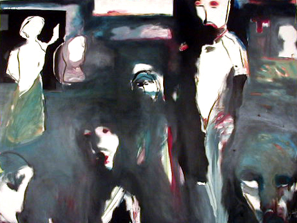Miguel D'Alte 1986 ESPECTROS Óleo s/ Tela 150 x 200 cm