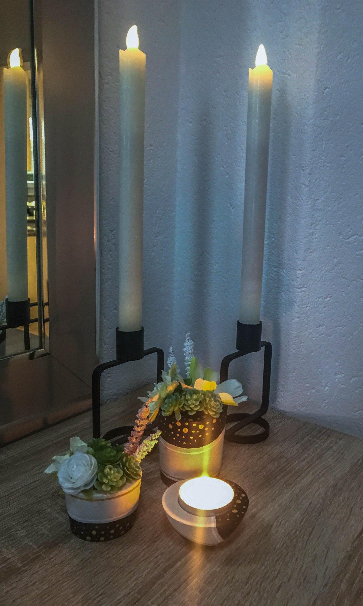 DIY Teelicht- und Blumenhalter