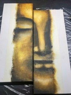 Abstrakt Buddha Keilrahmen Gemälde