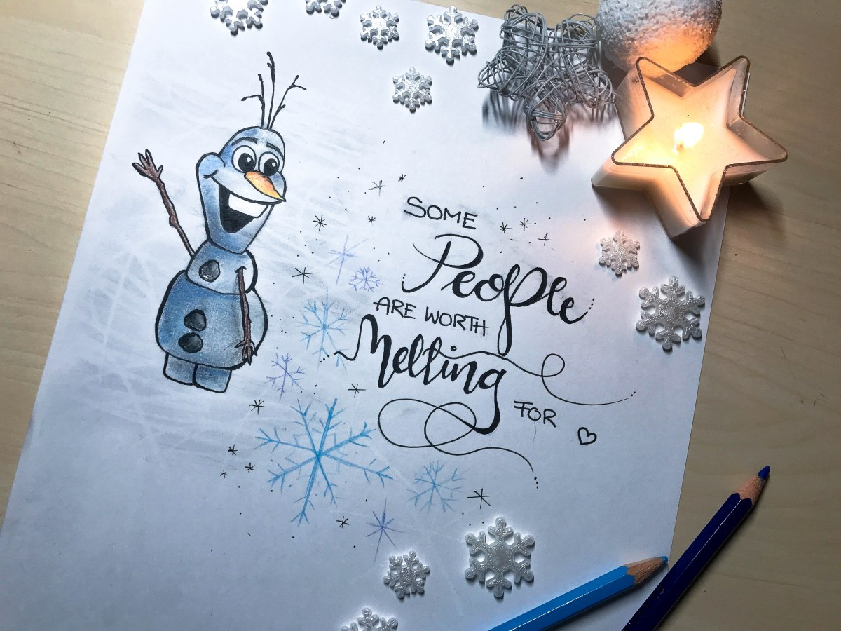 """Weihnachtsfest bei Bienchen / """"Some people are worth melting for"""""""