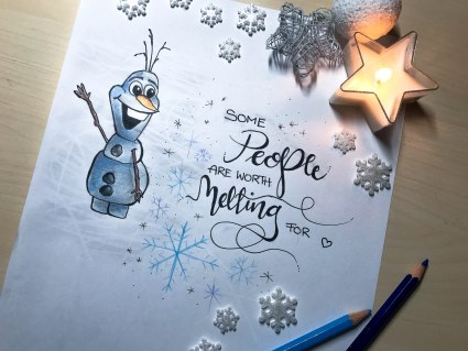 Olaf Drawing Disney