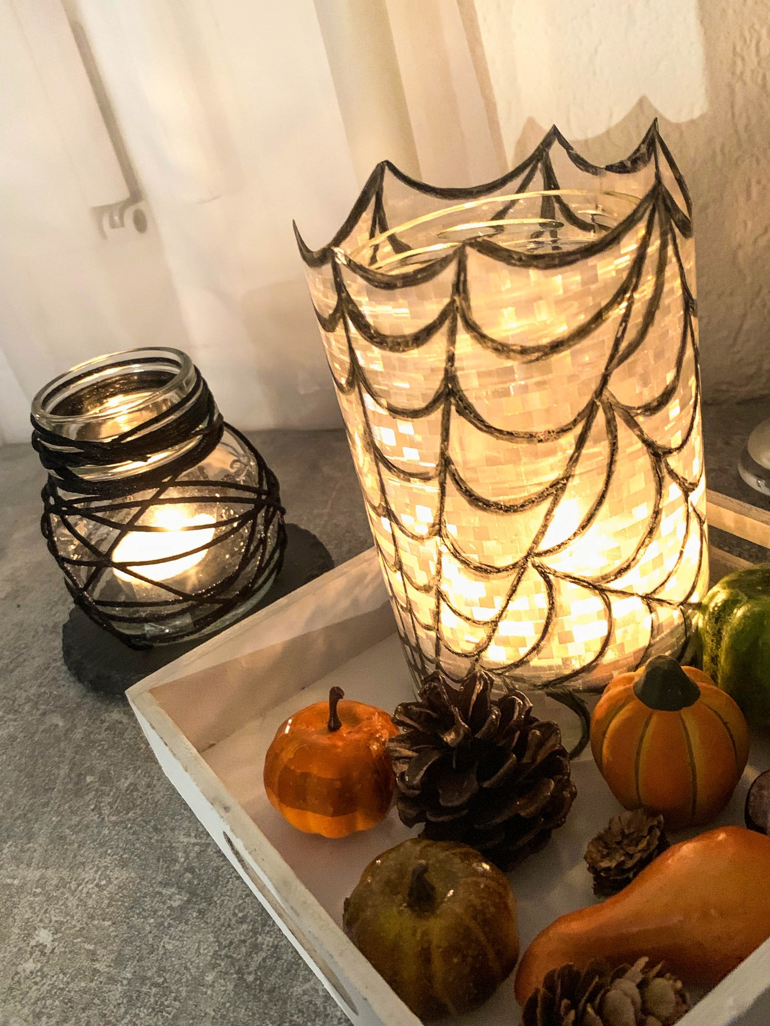 DIY Halloween Windlichter
