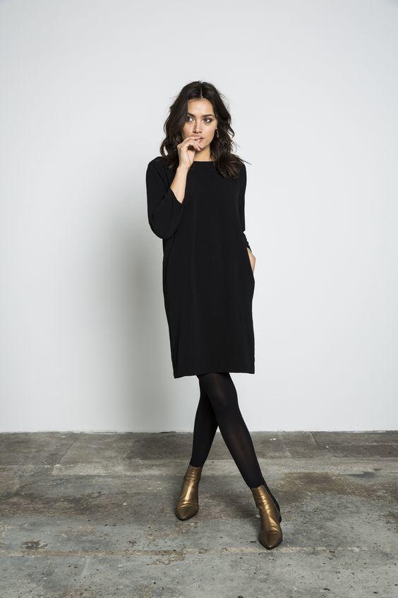bottine noire pour robes