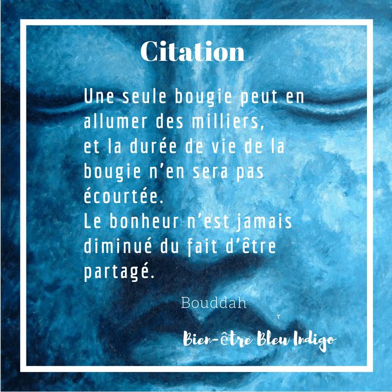 Citation De Bouddah A Propos Du Bonheur Bien Etre Bleu Indigo