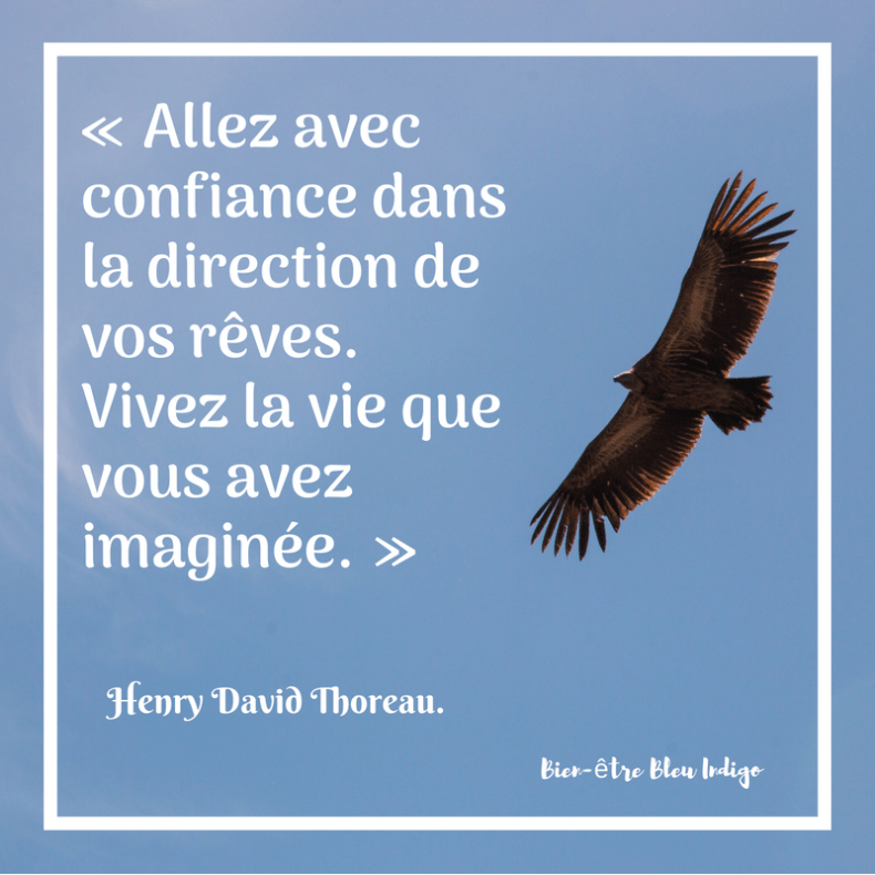 Citation De Henry David Thoreau Bien être Bleu Indigo