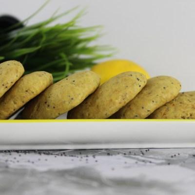 cookies vegans au citron et au pavot