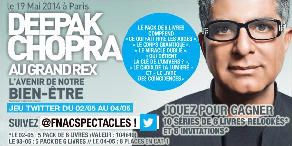 Deepak Chopra – Le concours Twitter