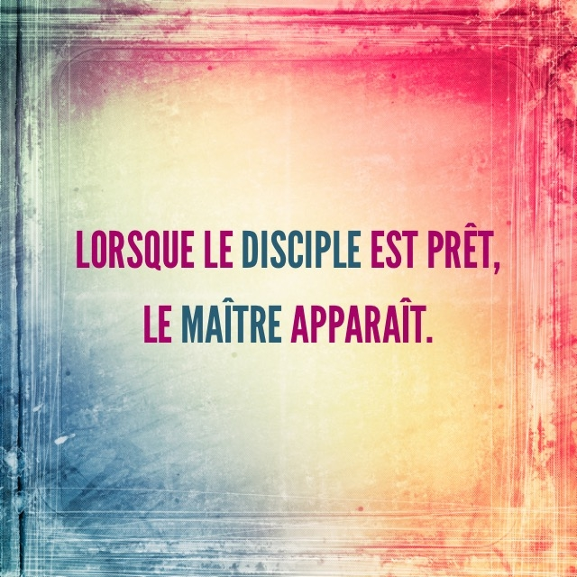 Citation discple maitre