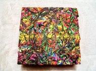 Herwig Maria Stark, ART CUBE 3/7, size 15 x 15 x 6 cm, Mixed media on wooden cube