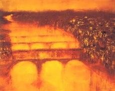 GERLINDE KOSINA, FLORENZ, Öl auf Leinwand, 80 x 100 cm, 2001