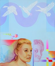 Diego Valentinuzzi, LE ALI DELLA LIBERTÀ, mixed media on canvas, 60 x 50 cm, 2010