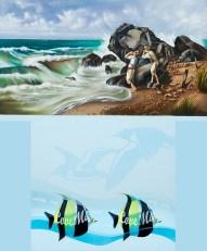 Diego Valentinuzzi, LOVE ME, mixed media on canvas, 60 x 50 cm,