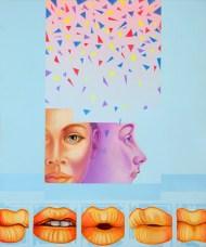 Diego Valentinuzzi, SALUTA DA BROOKLIN , mixed media on canvas, 60 x 50 cm,