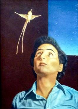 Darius Foroutan, SELFPORTRAIT 1987, acrylic on canvas, 40 x 30 cm
