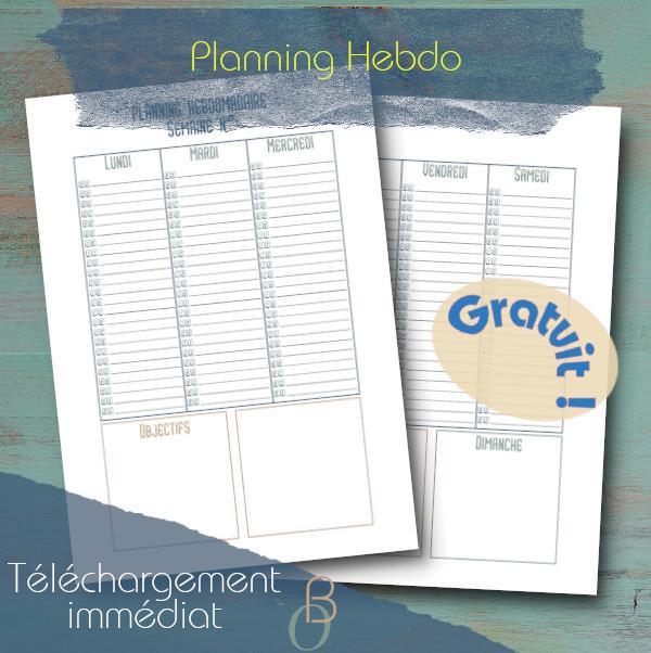 planning hebdo printable gratuit