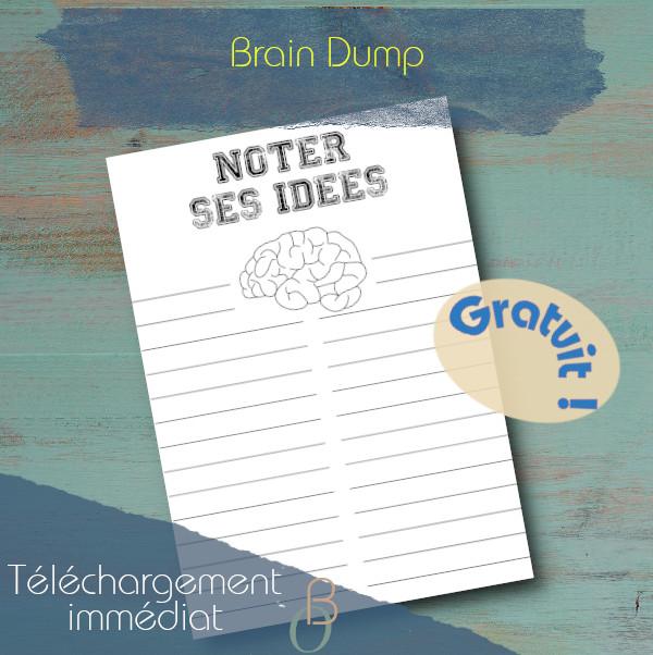 brain dump printable