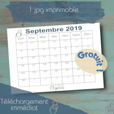 Cover for shop Freebies calendrier septembre 2019