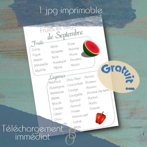 fruits et legumes septembre