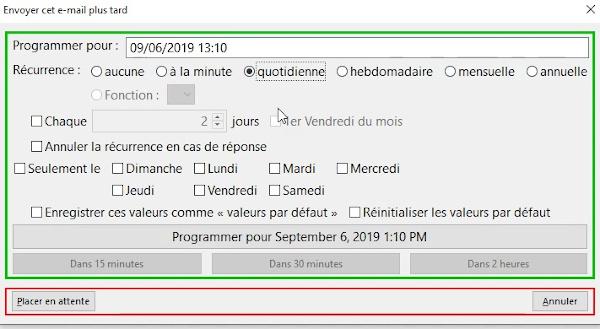 programmer l'envoi d'email avec send later