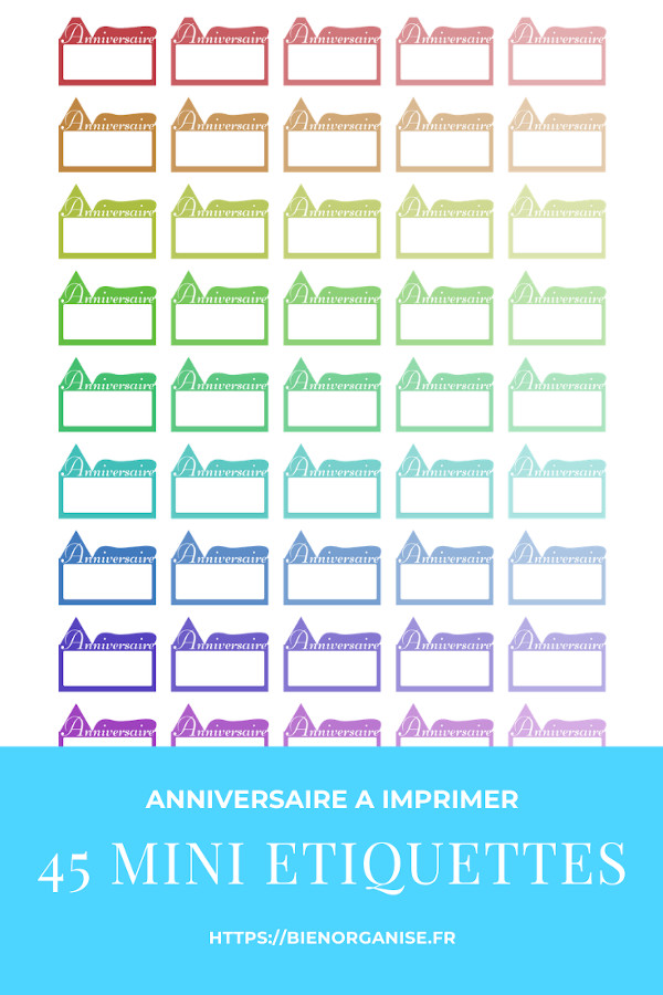 stickers for planner printable birthday mini étiquettes anniversaire