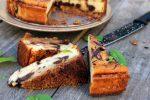 Deliciosa tarta de queso y chocolate negro