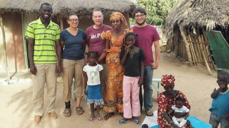 Seereer language group visiting with Oumi and her family