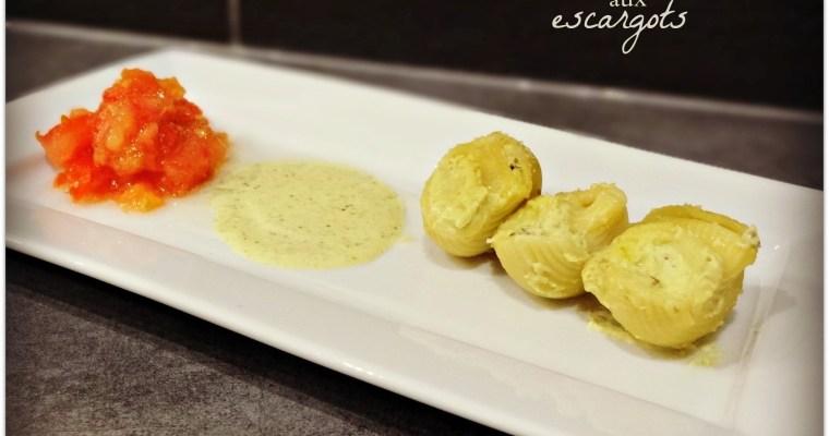 Pâtes farcies aux escargots et pesto de pistache