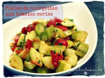 poelée de courgettes aux tomates