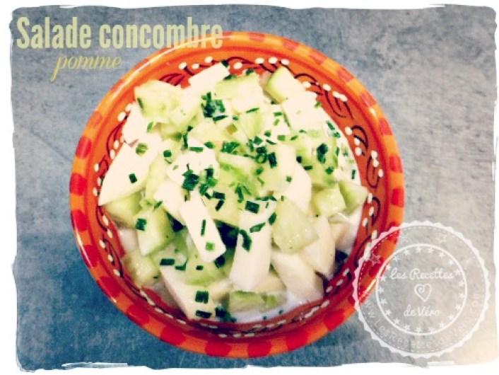 Salade concombre pomme