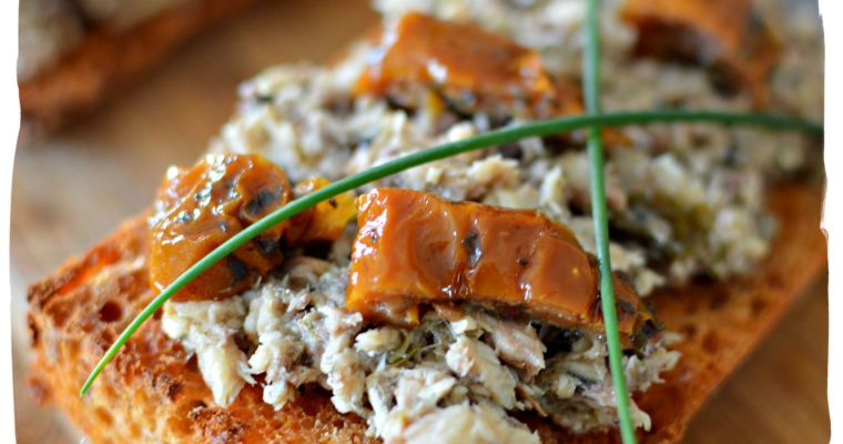 Toasts de sardine à l'ail – Sans gluten