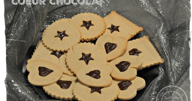 Petits biscuits coeur chocolat
