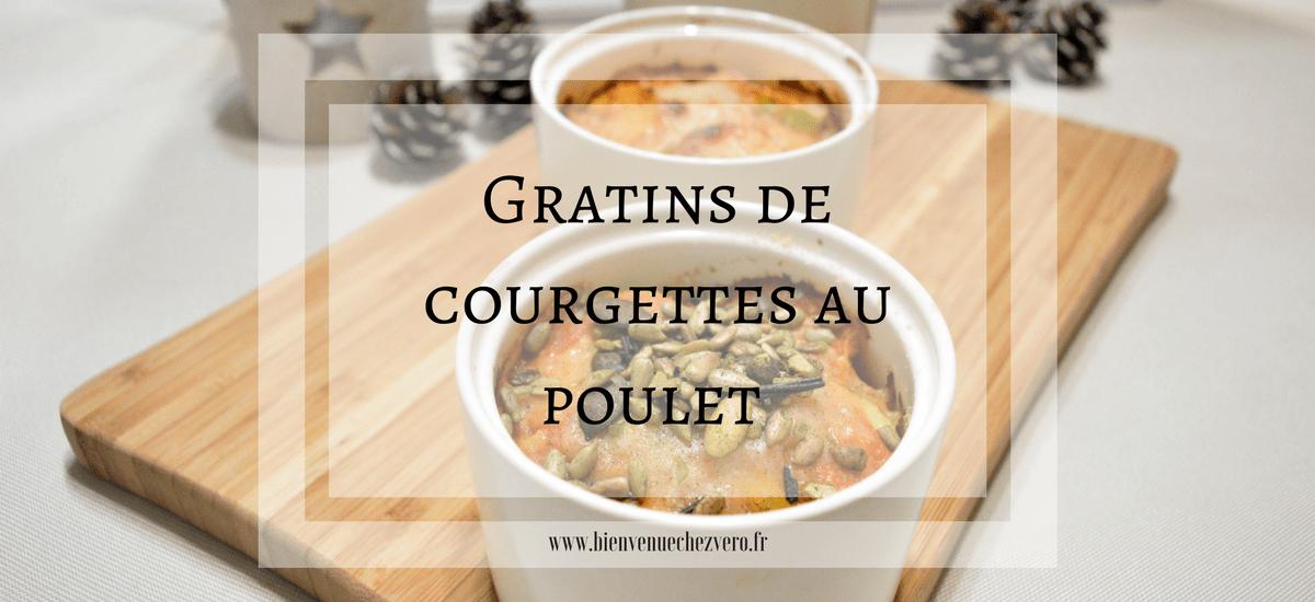 Petits gratins de courgettes au poulet et grainaline [i-cook'in]