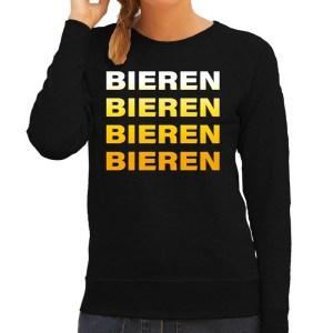 Bier shirt voor dames in het zwart