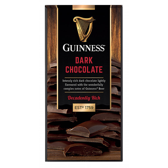 Guinness Guinness Dark Chocolate Bar 90 Gram ***THT 03-2021***