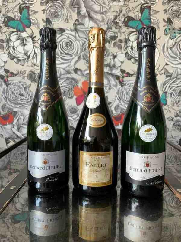 box 3 bouteilles de champagne des hauts de france, médaillés au salon de l'agriculture de paris