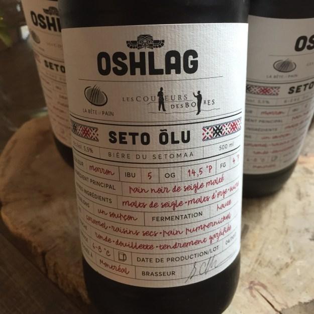 Bière Seto Olu