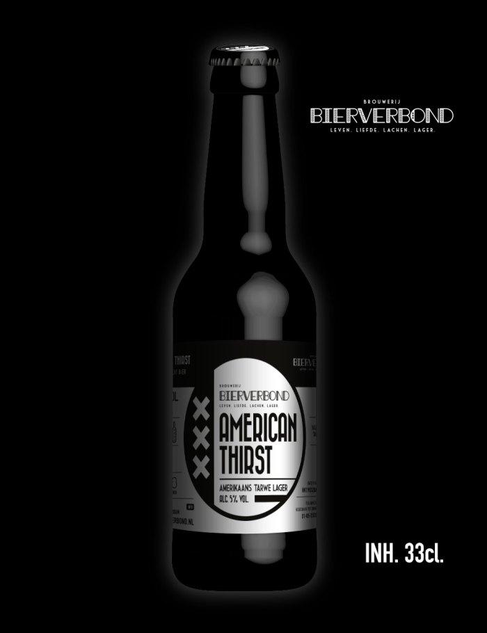 American Thirst American wheat Lager of Brouwerij Bierverbond Amsterdam